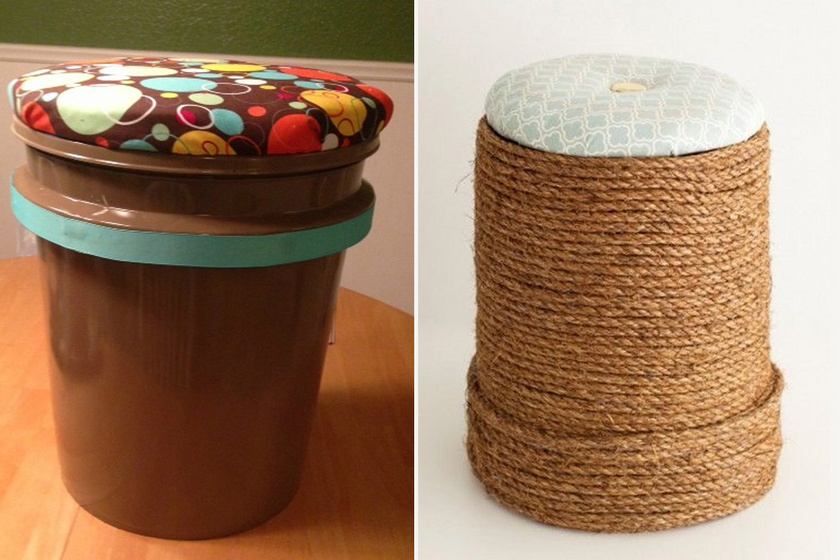 Régi műanyag vödörből trendi ülőke: így készítsd el saját kezűleg beltérre vagy a teraszra