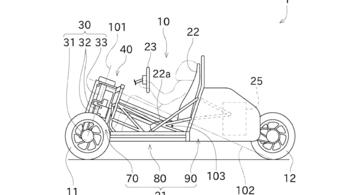 Háromkerekű járművet szabadalmaztatott a Kawasaki