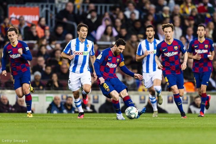 Az FC Barcelona és a Real Sociedad közötti mérkőzés, 2020. március 7-én, Barcelonában.