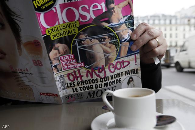 Párizsi férfi a Closer magazin pénteki számával