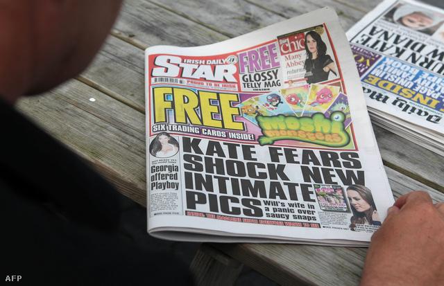 A hercegi párral foglalkozó ír bulvárlap címlapja.
