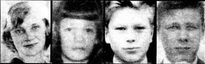 Irmeli Björklund, Tuulikki Mäki, Seppo Boisman áldozatok és Nils Gustafsson, az egyetlen túlélő