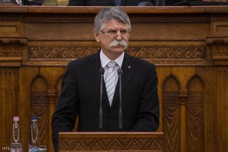 Kövér László az Országházban 2020. június 4-én.