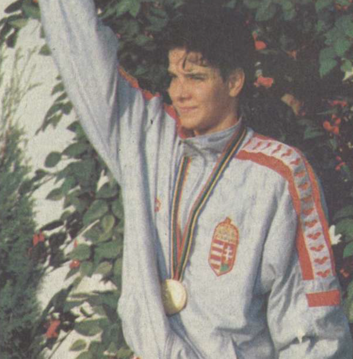 Egerszegi Krisztina Barcelonában 1992-ben.