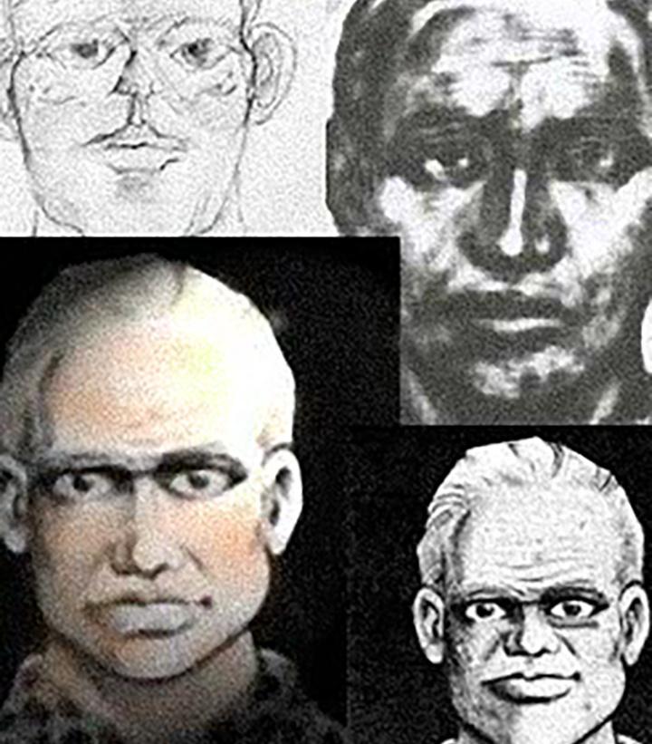 Gustafsson hipnózisban adott leírása alapján készült fantomképek a gyilkosról
