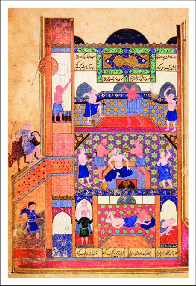 'Adud al-Dawla kalifa 982-ben építette Bagdad területén az Al 'Adudi kórházat, amiben 25 orvos dolgozott - a fennmaradt írásos emlékek csodás palotaként emlegetik. Minden bimarisztánhoz tartozott konyha, könyvtár, patika és mecset, ami mellett még kápolna is helyet kapott a keresztény pácienseknek. Legtöbbször orvosi iskolaként is funkcionáltak.
