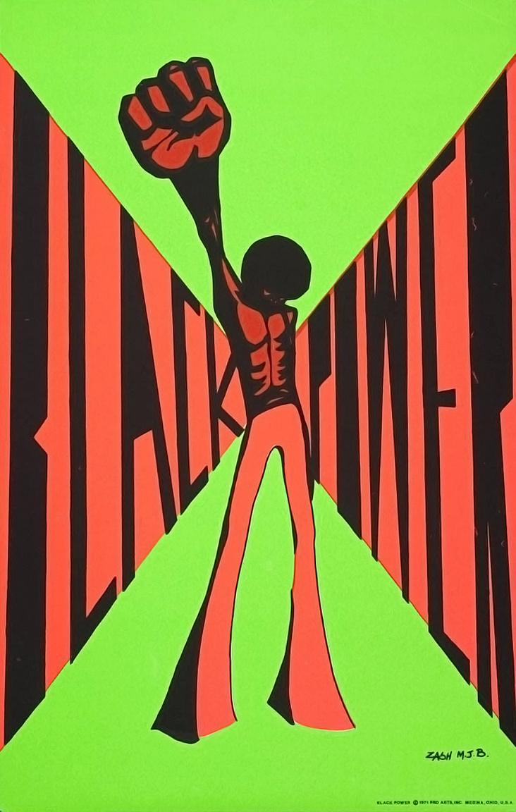 Hatalmat a feketéknek. Black Power-plakát a hetvenes évekből, immár diszkóstílusban.