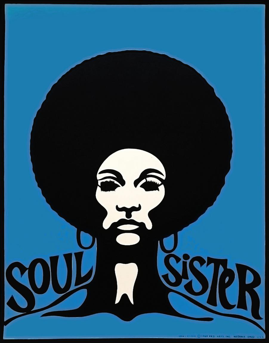 """""""Léleknővér"""" – Újabb plakát, ami stílusában a hetvenes évek zenei hatásait szemlélteti."""