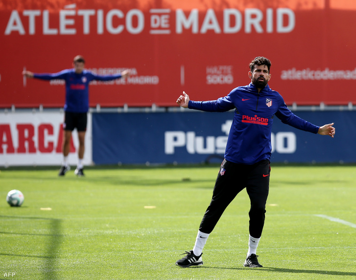 Diego Costa az Atlético Madrid edzésén