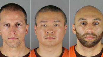 750 ezer dolláros óvadék mellett védekezhetnének szabadlábon a Floyd megölésével vádolt rendőrök