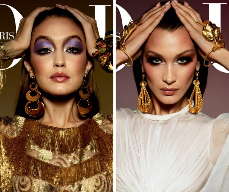 Gigi és Bella Hadid a francia Vogue címlapján.