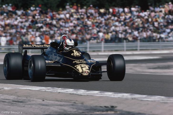 Nigel Mansell, a Lotus csapat pilótája az 1982-es svájci Grand Prix-n
