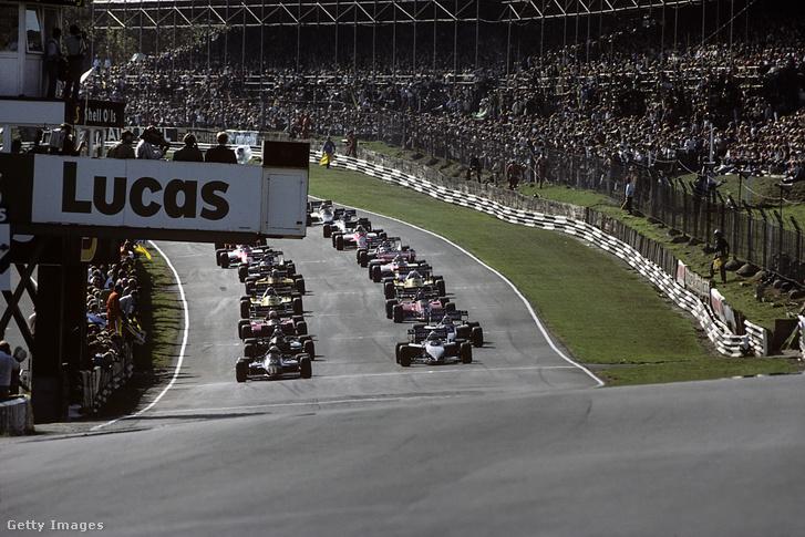 A Brands Hatch versenypályán tartott 1983-as Európa Nagydíj a rajt előtti pillanatokban