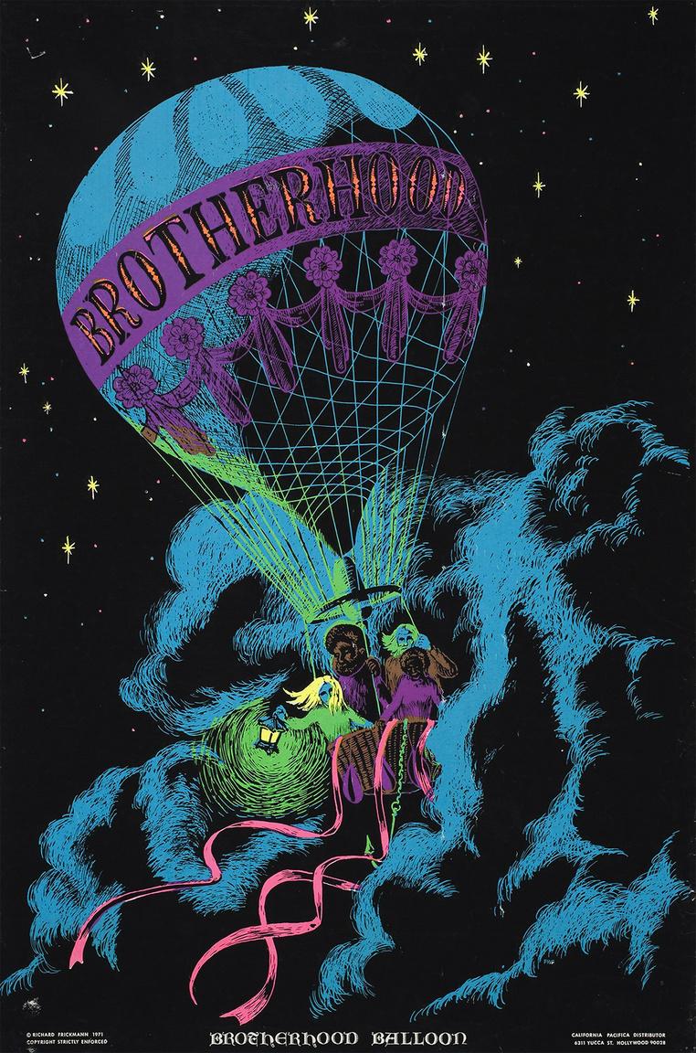 """""""A testvériség léghajója"""" – Richard Frickmann művészi plakátja, 1971."""