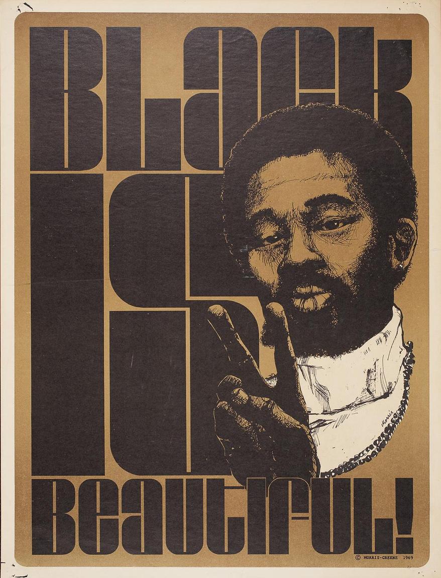 """""""A fekete gyönyörű"""" – 1969-es pop-pol plakát."""