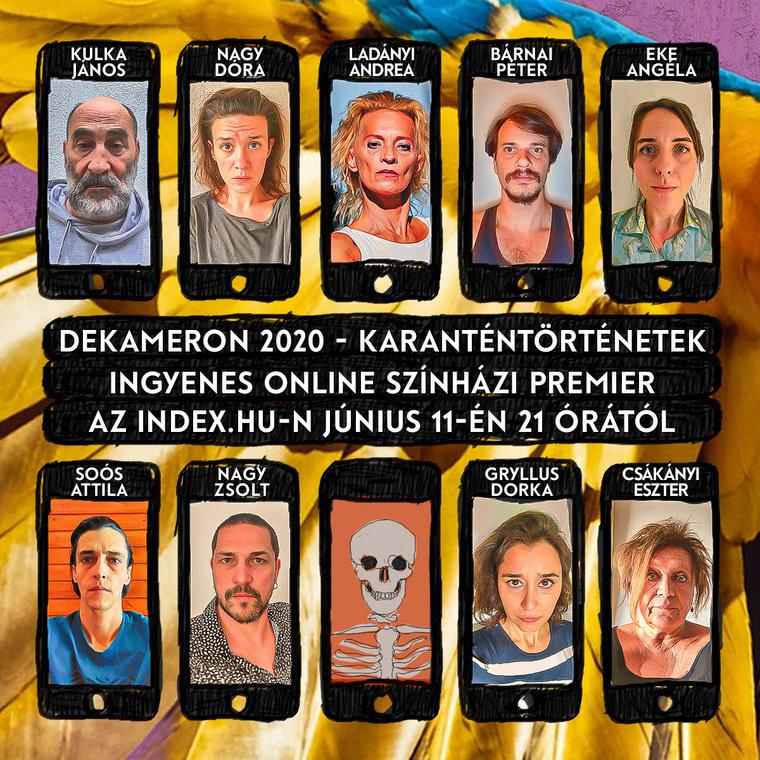Az előadásban szereplő színészek.