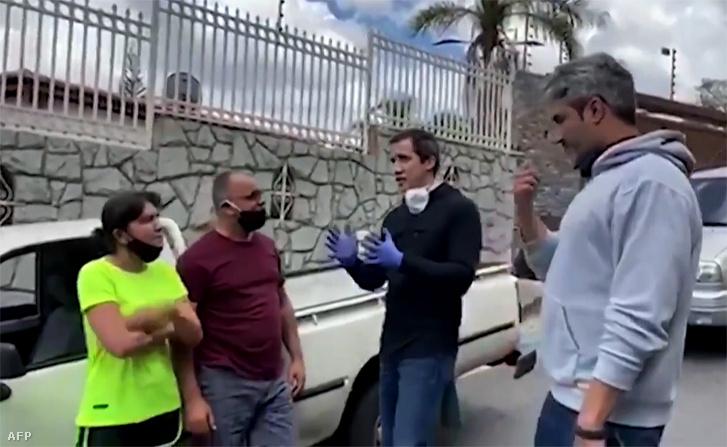 Képernyőkép Juan Guaidóról kiadott videóból 2020. június 6-án