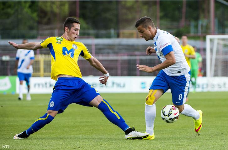 Csiki Norbert jobbra, még az MTK játékosaként 2015-ben