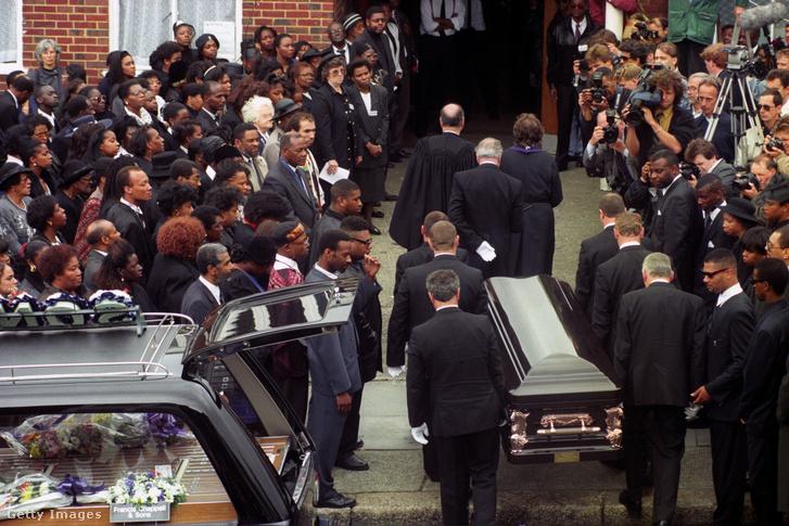 Stephen Lawrence temetése Londonban 1993. június 18-án