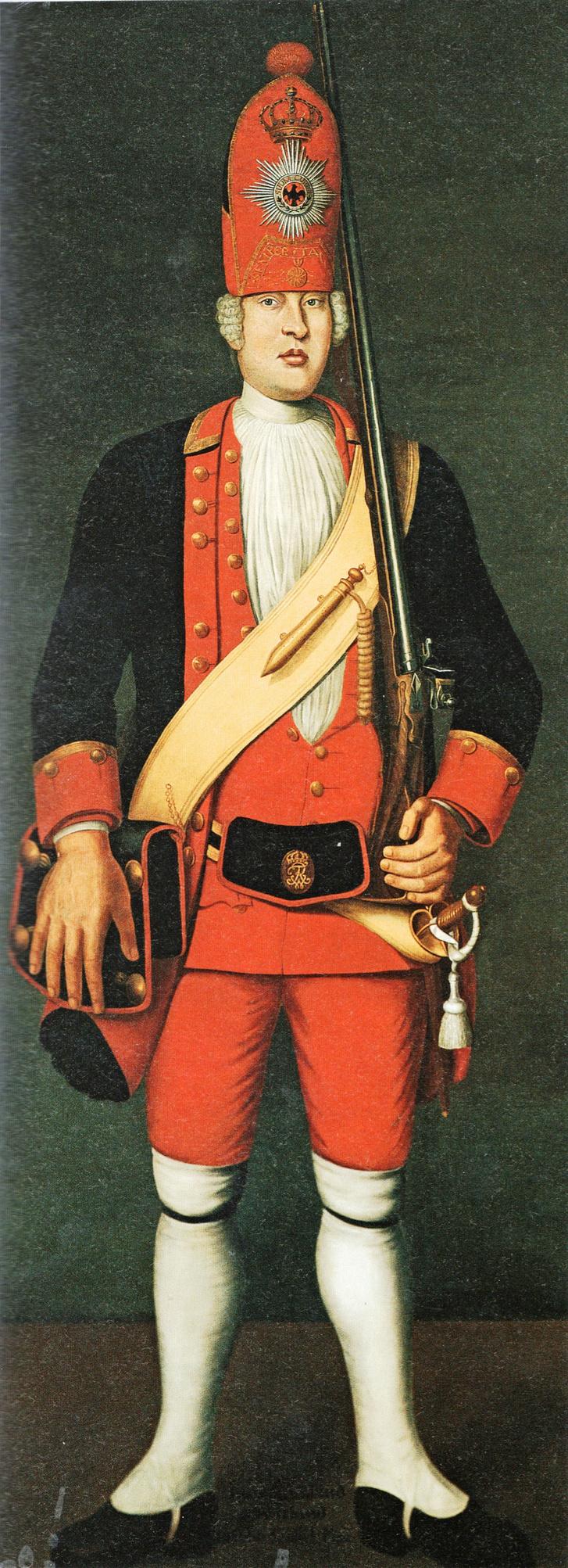 James Kirland, a potsdami óriások egyik tagja. Olajfestmény, 1718.