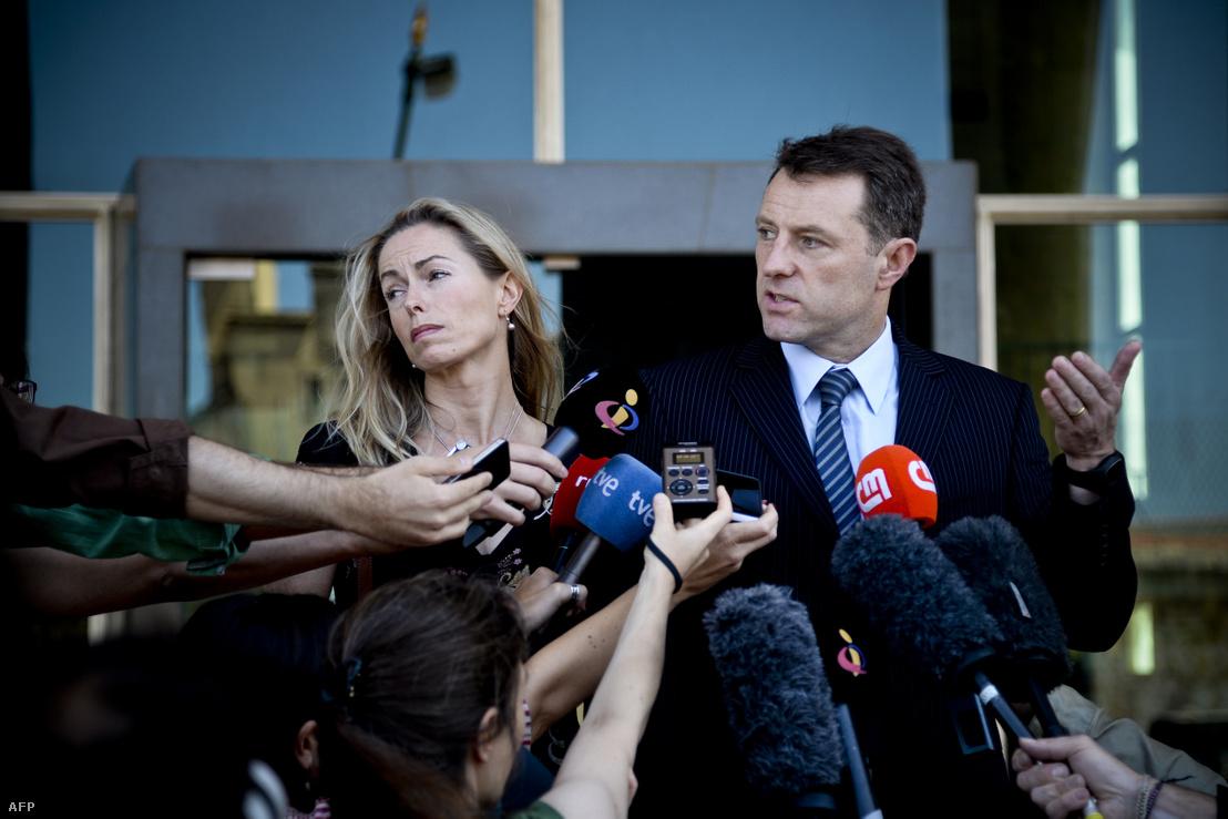 Madeleine McCann szülei 2014-ben egy sajtótájékoztatón
