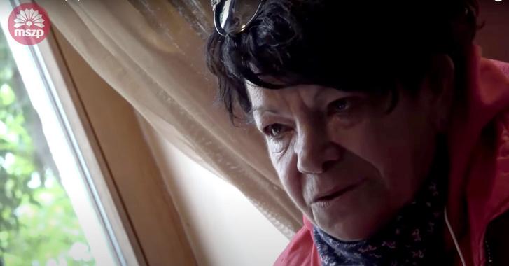 Németh Athina az MSZP videójából kivett képkockán
