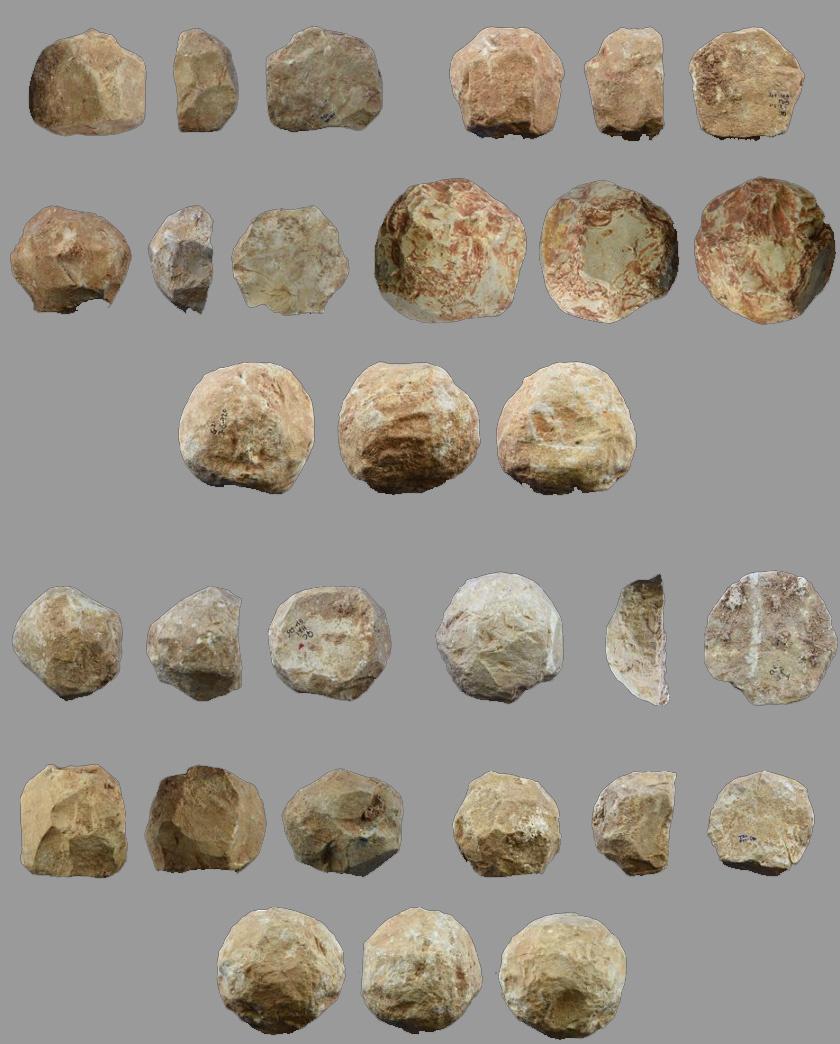 A kőgolyók.
