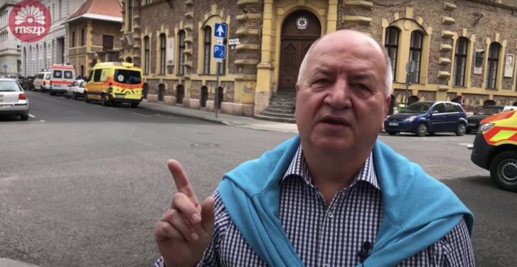 Korózs Lajos, az MSZP országgyűlési képviselője a videóból kivett képkockán