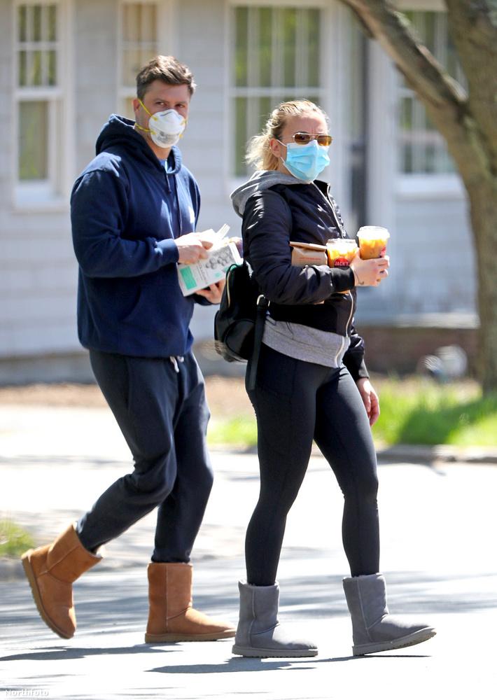 Ezek például már május 14-i fotók, itt a 35 éves színésznő 37 éves vőlegényével látható