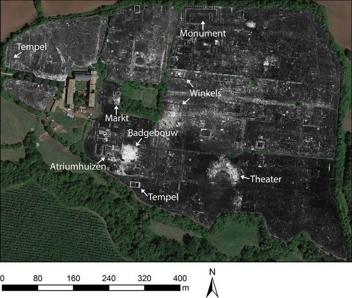 A kutatott terület képe talajradarral