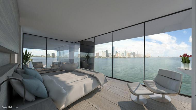 A hurrikánbiztos, jelenleg Miamiben állomásozó jachtokban háló, konyha, fürdőszoba és nappali is található