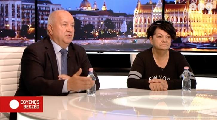 Korózs Lajos és Németh Athina az atv műsorában