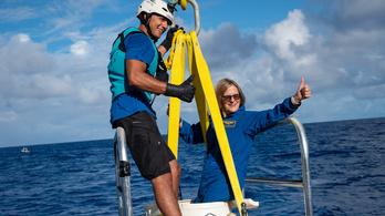68 évesen a Föld legmélyebb pontját is meghódította az amerikai űrhajósnő