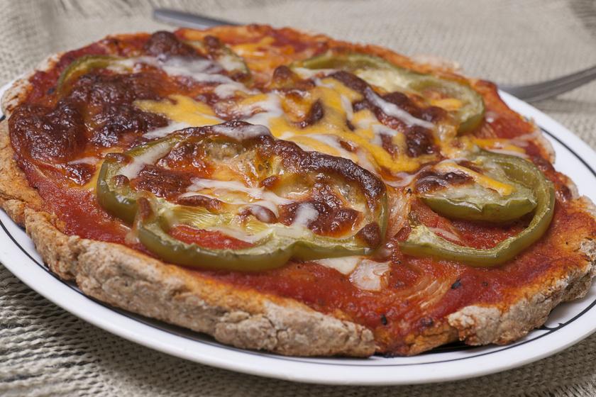 teljes kiőrlésű pizza recept