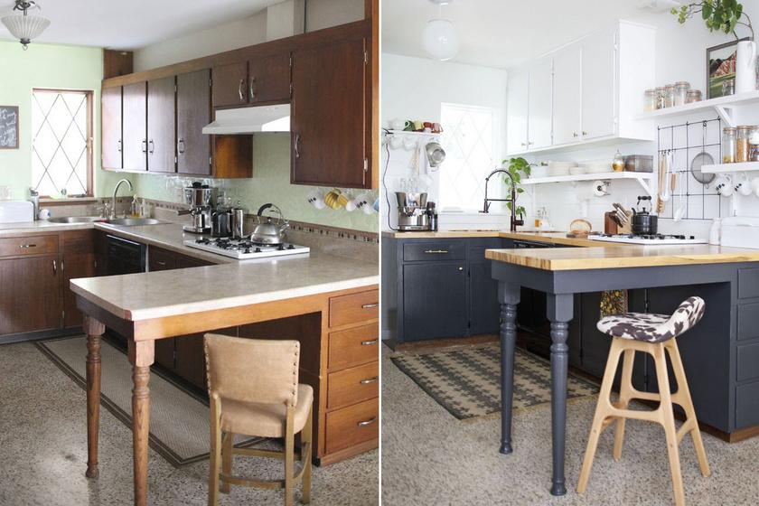 Alaposan kipofozták a lepukkant konyhát: előtte-utána képeken 8 csodatévő felújítás