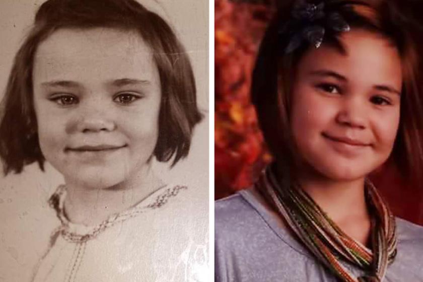 Az anya posztolta a képet lányáról és édesanyjáról: a nagymamának és unokájának nemcsak a vonásai, hanem még a haja is hasonló.