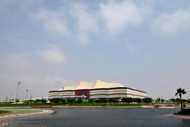 Az Al-Bayt-stadion 2019. december 17-én, Katarban.