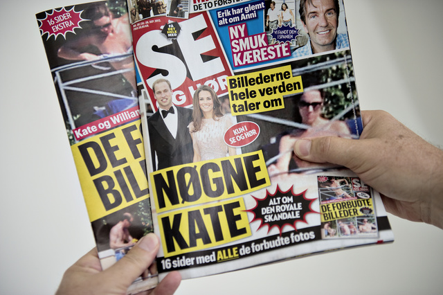 A  a dán Se og Hør és a svéd Se och Hör címlapjai
