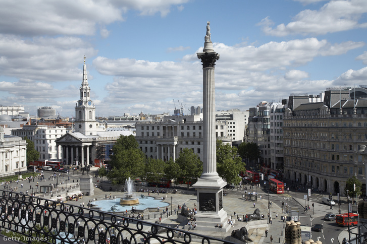 Lord Nelson emlékoszlopa a Trafalgar téren