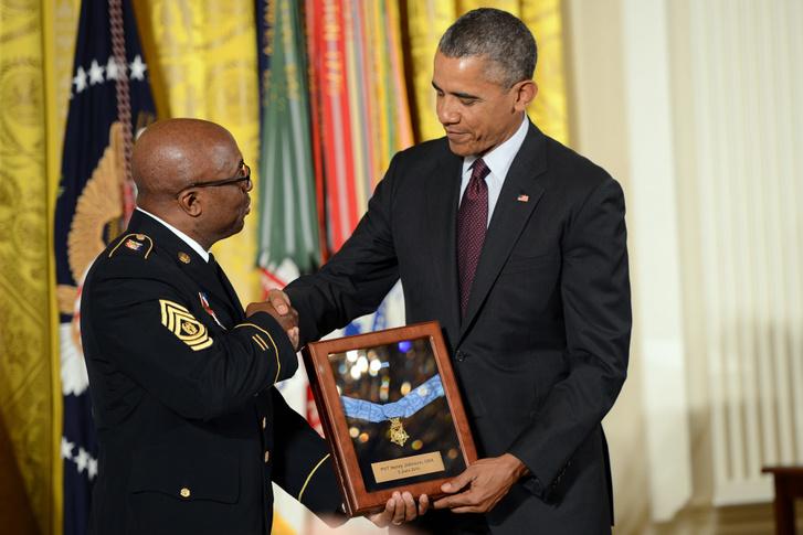 2015-ben Barack Obama a New York-i Nemzeti Gárda törzsőrmesterének, Louis Wilson-nak adta át a Johnsonnak járó poszthumusz Becsület Érdemrendet.