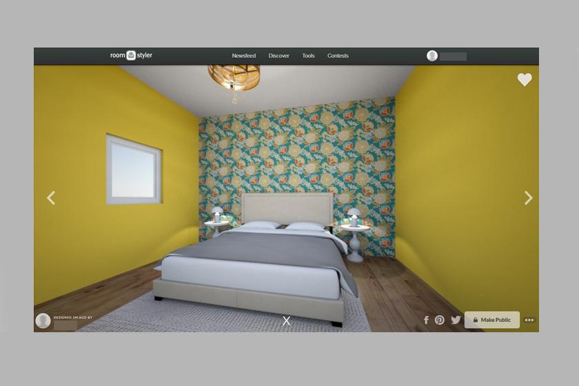 Kész kép egy szobáról.