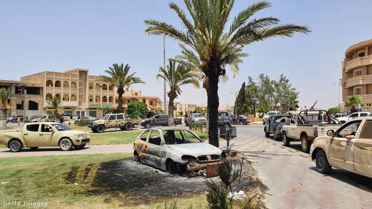 Tarhúna városa Haftár visszaverése után 2020. június 5-én.