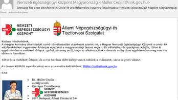 Ha Müller Cecília ingyenes védőfelszerelést kínál emailben, ne kattintson rá, vírus!
