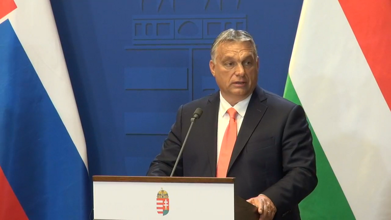 Orbán Viktor és Igor Matovič szlovák miniszterelnök sajtótájékoztatója élőben