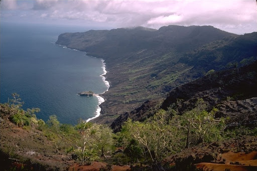A Marquises-szigetek egyik tagjának látképe Fotó: University of Hawaii