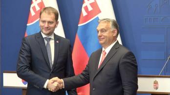 Orbán Viktor és Igor Matovič szlovák miniszterelnök sajtótájékoztatója