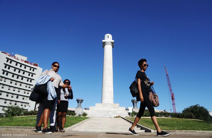 A Robert E. Lee szobor helye, ahonnan 2017-ben szállították el New Orleans-ból