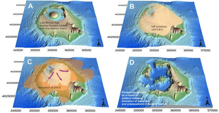 Jól látszik, mennyire átformálta a vulkánrobbanás a sziget domborzatát.