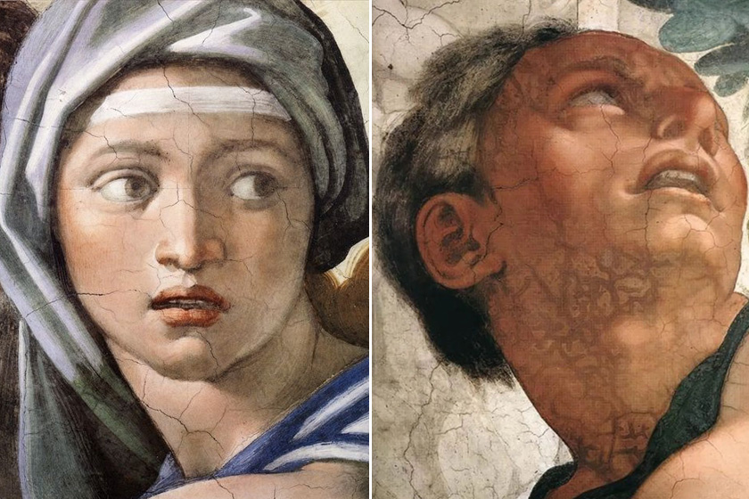 Szibilla és Jónás a Sixtus-kápolna freskóján.