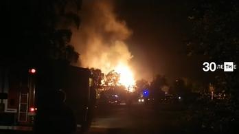 50 méteres lánggal égett egy oroszországi gázelosztó állomás